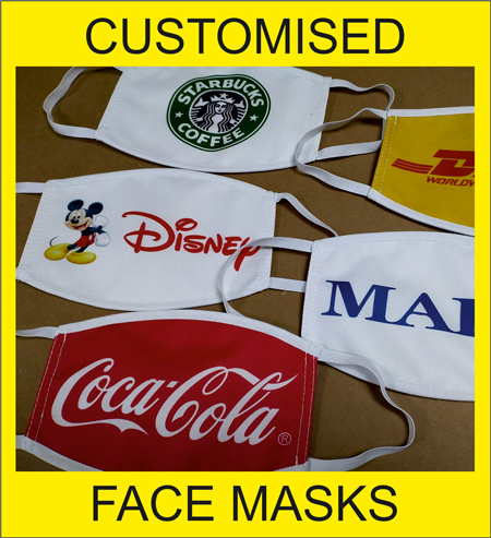 Customised Face Masks By ARTI Promotions Ltd